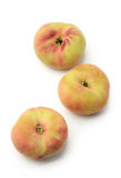 Donut peaches isolated Stock Photo