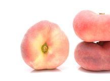 Donut peaches isolated on white background Royalty Free Stock Photo