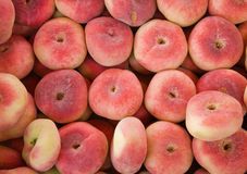 Donut peaches for sale Royalty Free Stock Photo