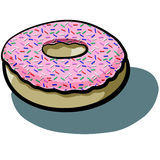 Donut Pink Royalty Free Stock Photography