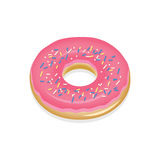 Donut with pink glaze Royalty Free Stock Photos