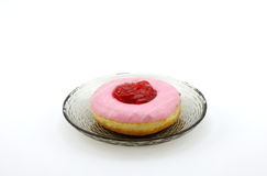 Donut in the plate Stock Photography