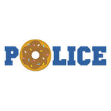 Donut police cartoon funny isolated vector Stock Image