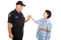 Donut for Policeman Royalty Free Stock Photos