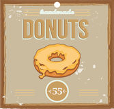 Donut poster Royalty Free Stock Photo