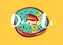 Donut poster with cool design Stock Image