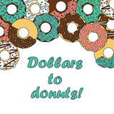 Donut poster 2 Royalty Free Stock Photo