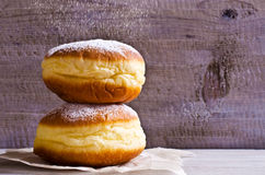 Donut in powdered sugar Stock Image