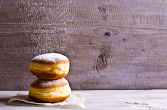 Donut in powdered sugar Royalty Free Stock Photos