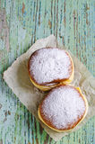 Donut in powdered sugar Stock Photo