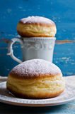Donut in powdered sugar Royalty Free Stock Photography