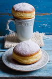 Donut in powdered sugar Royalty Free Stock Photo
