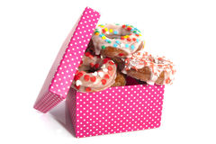 Donut present Stock Images