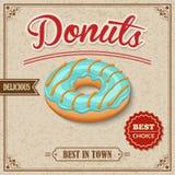 Donut retro poster Stock Image
