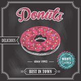 Donut retro poster Royalty Free Stock Photography