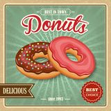 Donut retro poster Royalty Free Stock Photos