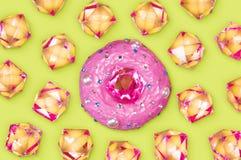 Donut with rhinestones Royalty Free Stock Photo