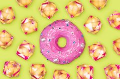 Donut with rhinestones Royalty Free Stock Images
