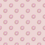 Donut Seamles Repeat Pattern Royalty Free Stock Image. Cute donut doodles with seamles repeat pattern design royalty free stock image vector illustration