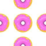 Donut Seamless Background Texture Pattern Royalty Free Stock Photography