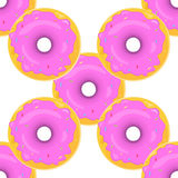 Donut Seamless Background Texture Pattern Stock Images