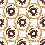 Donut Seamless Background Texture Pattern Stock Photos