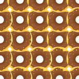 Donut Seamless Background Texture Pattern Stock Image