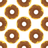 Donut Seamless Background Texture Pattern Stock Photo
