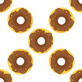 Donut Seamless Background Texture Pattern Royalty Free Stock Image