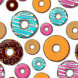 Donut seamless texture. Stock Photo