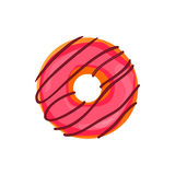 Donut set with sprinkles isolated on white background. Vector illustration. Donut with sprinkles isolated on white background. Vector illustration Royalty Free Stock Photos