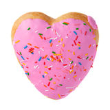 Donut shape as heart Stock Photo