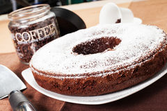 Donut shaped cake Stock Photos