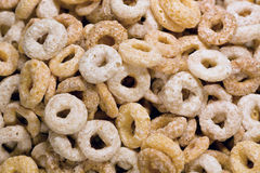 Donut shaped cereals Royalty Free Stock Images