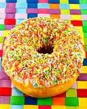 Donut and sprinkles Royalty Free Stock Photos