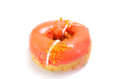 Donut with sprinkles Stock Images