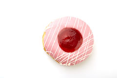 Donut with sprinkles isolated Stock Images