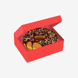 Donut with sprinkles isolated on white background Stock Image