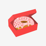 Donut with sprinkles isolated on white background Stock Photos