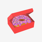 Donut with sprinkles isolated on white background Royalty Free Stock Photo