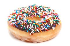 Donut with sprinkles isolated on white background Stock Photography