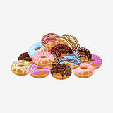 Donut with sprinkles isolated on white background Royalty Free Stock Images