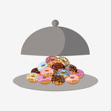 Donut with sprinkles isolated on white background Royalty Free Stock Image