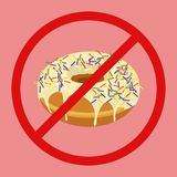 Donut with sprinkles isolated on white background Royalty Free Stock Photos