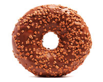 Donut with sprinkles on white background. Royalty Free Stock Photo
