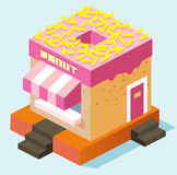 Donut stall Royalty Free Stock Image