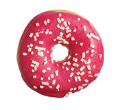 Donut with strawberry icing Royalty Free Stock Photos
