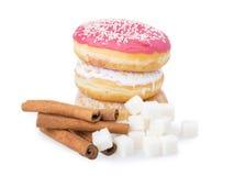 Donut, sugar, cinnamon Royalty Free Stock Image