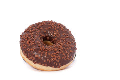 Donut. Sweet icing sugar food. Dessert colorful snack. Glazed sprinkles. Treat from delicious pastry breakfast. Bakery cake. Dough. Nut with frosting. Baked stock photography