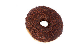 Donut. Sweet icing sugar food. Dessert colorful snack. Glazed sprinkles. Treat from delicious pastry breakfast. Bakery cake. Dough. Nut with frosting. Baked stock photo
